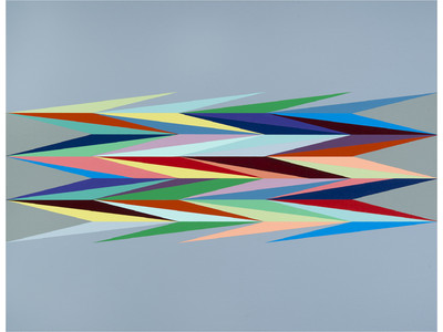 Surface Charge 4, 2014, by Odili Donald Odita (Courtesy of the artist and Jack Shainman Gallery, New York)
