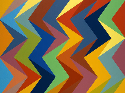Alive, 2010, by Odili Donald Odita (Courtesy of the artist and Jack Shainman Gallery, New York)