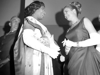 Marian Anderson and Grace Kelly, 1963. (John W. Mosley Photograph Collection, Charles L. Blockson Afro-American Collection, Temple University Libraries, Philadelphia, PA.)