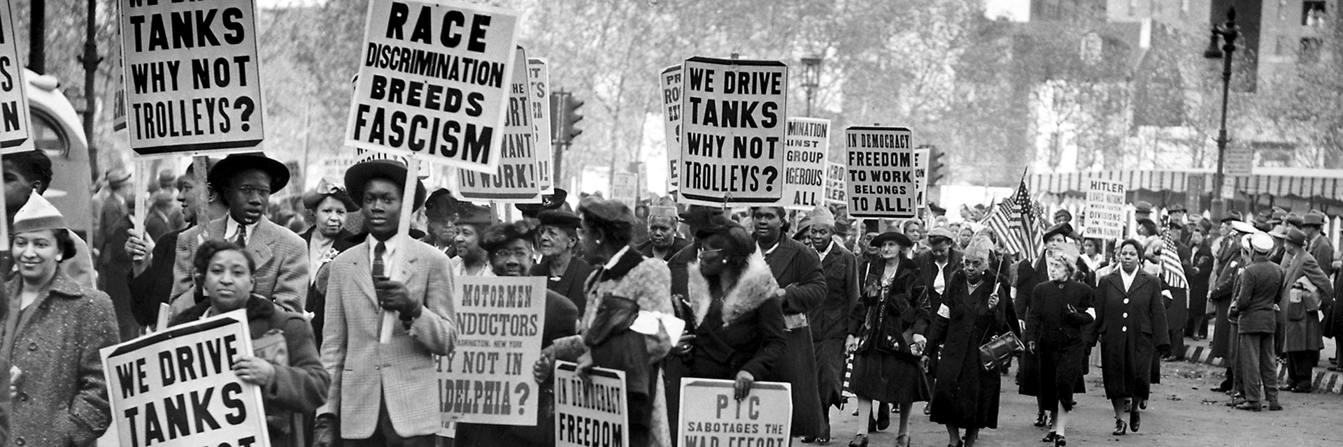 PTC Protest, November 8, 1943, 1943. (John W. Mosley Photograph Collection, Charles L. Blockson Afro-American Collection, Temple University Libraries, Philadelphia, PA.)