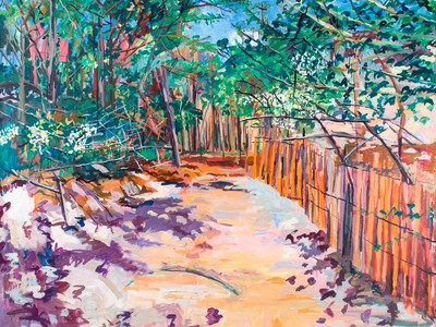 Path from the Carrington House, 1996 by John Laub (Courtesy of Bruce Kingsley and the Estate of John Laub)