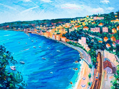 Villefranche, 1995 by John Laub (Courtesy of Bruce Kingsley and the Estate of John Laub)