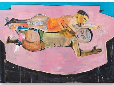 Two Men on Bed, 2015, by Jonathan Lyndon Chase (Collection of Manja L. Lyssy)