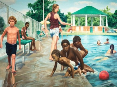 Swimming Pool at Hunting Park, 1975–76 (Woodmere Art Museum: Gift of Herbert and Faith Cohen, 2014)