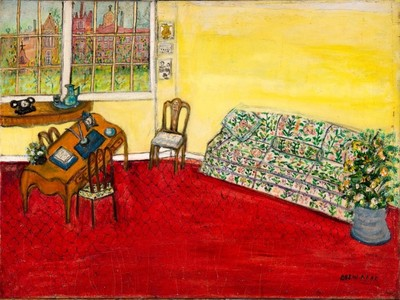 Untitled (Interior with Couch and Desk), by Jessie Drew-Bear (date unknown), Gift of the Drew-Bear Family, 2014