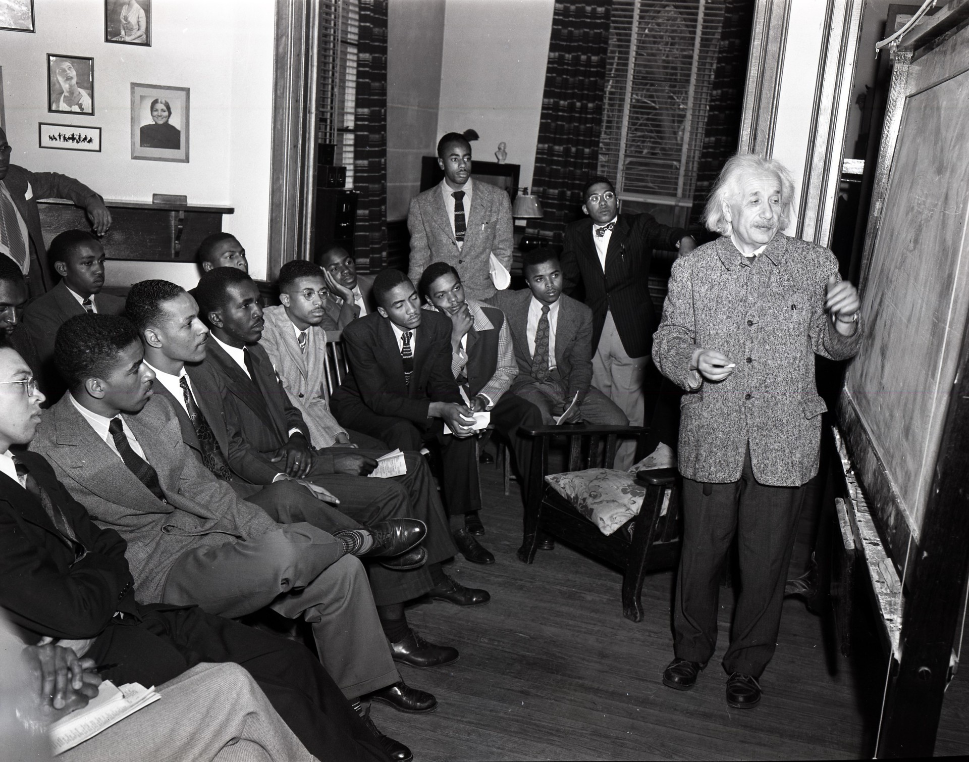 Albert Einstein And Students At Lincoln University
