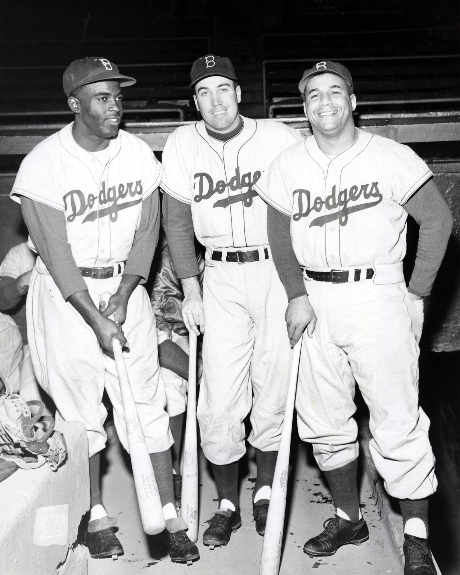 Jackie Robinson, Duke Snider, and Roy Campanella of the Brooklyn Dodgers - Woodmere Art Museum