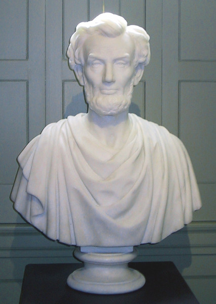 Sarah Fisher Ames: Abraham Lincoln (19th century) Carrara Marble