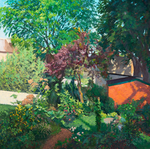 Patrick Arnold: Leverington Garden () Oil on paper mounted on ragboard