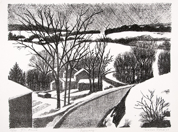 Morris Berd: February (1987) Lithography