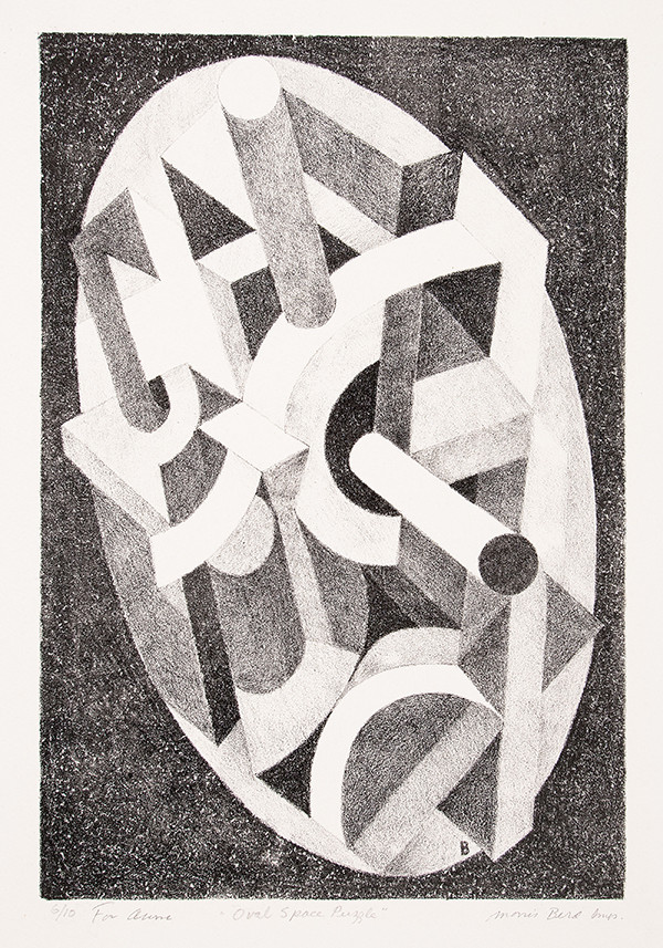 Morris Berd: Oval Space Puzzle (Undated) Lithography