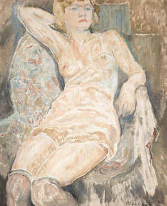 Morris Blackburn: Seated Nude () Oil on canvas