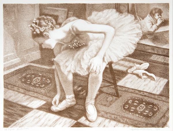 Jack Bookbinder: Ballerina (1980) Lithography