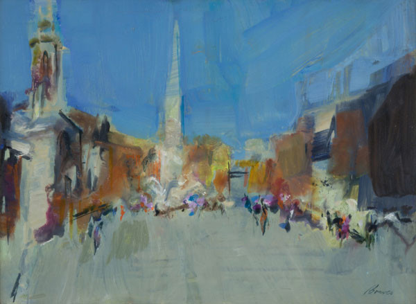 Betty M. Bowes: Piazza Navona #1 (Undated) Acrylic on board