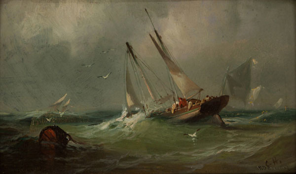 Franklin D. Briscoe: Cod Fishing on the Banks (Undated) Oil on board