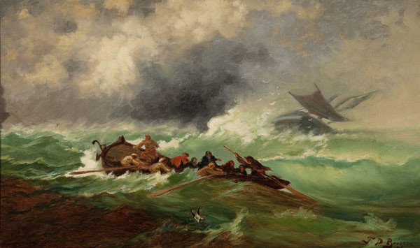 Franklin D. Briscoe: Off Cape May (c. 1870) Oil on canvas