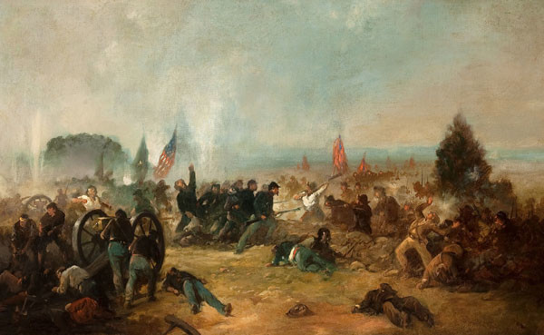 Franklin D. Briscoe: Pickett's Charge - Battle of Gettysburg (1887) Oil on canvas