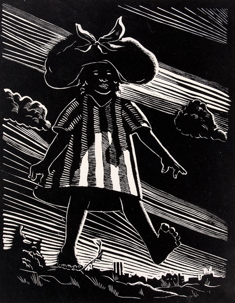 Samuel Joseph Brown: Wash Girl (1935) Woodcut