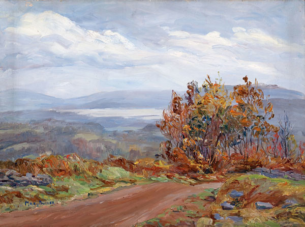 Mary Butler: Woodstock Valley from Meads-Wet Weather (Undated) Oil on canvas