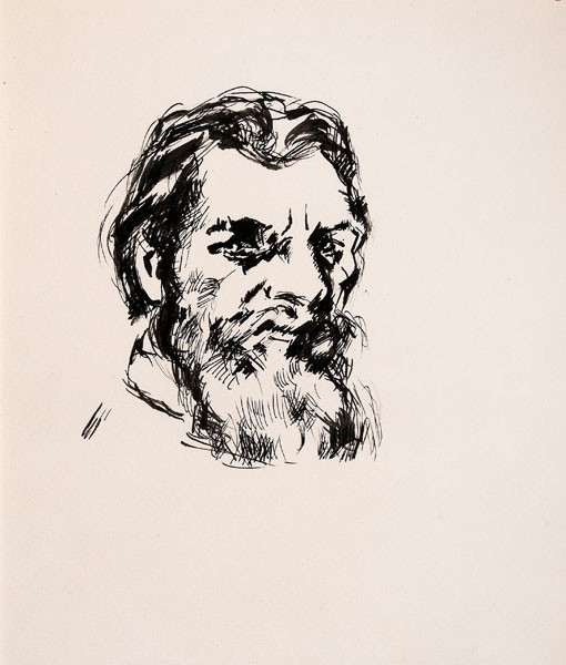 Arthur B. Carles: Self-Portrait (c. 1922) Black ink and wash on paper