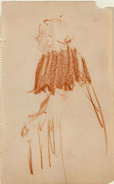 Arthur B. Carles: Untitled [Woman]  (c. 1905) Pastel on paper