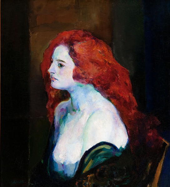 Arthur B. Carles: Woman with Red Hair (c. 1922) Oil on canvas