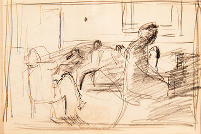 "Sketch for ""The Piano Player"""