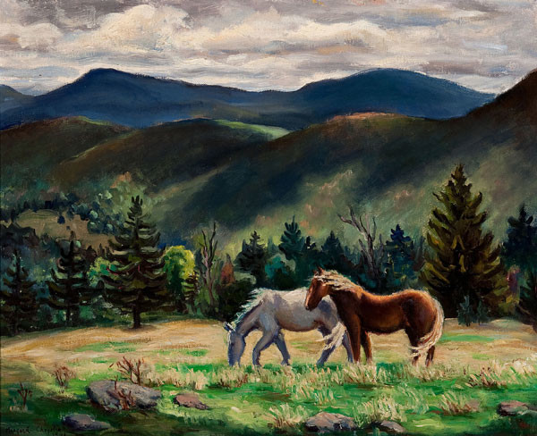 Margaret Chrystie: Windy Day (1941) Oil on canvas