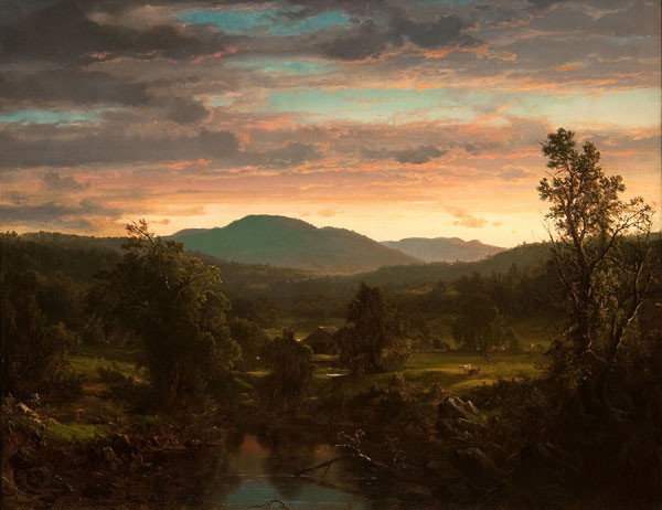 Frederic Edwin Church: Sunset in the Berkshire Hills (Massachusetts) (1857) Oil on canvas