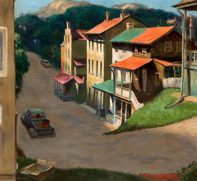 Lucius Crowell: Emmet Street (Undated) Oil on canvas