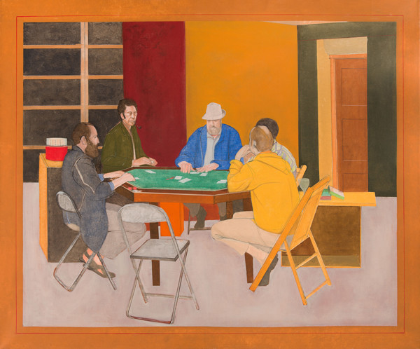 Larry Day: Poker Game (1970) Oil on canvas