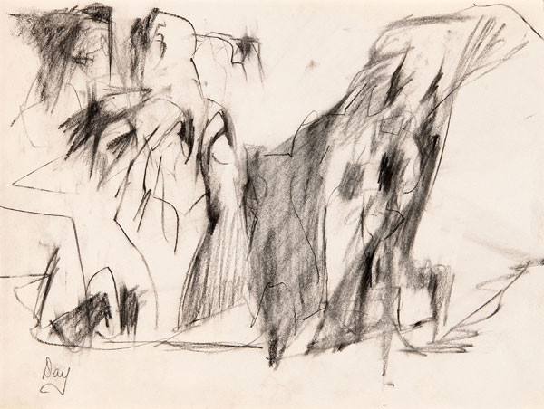 Larry Day: Landscape (c. 1955) Graphite on paper