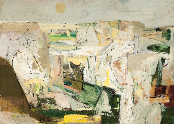 Larry Day: Untitled (Abstract) (c. 1955) Oil on canvas
