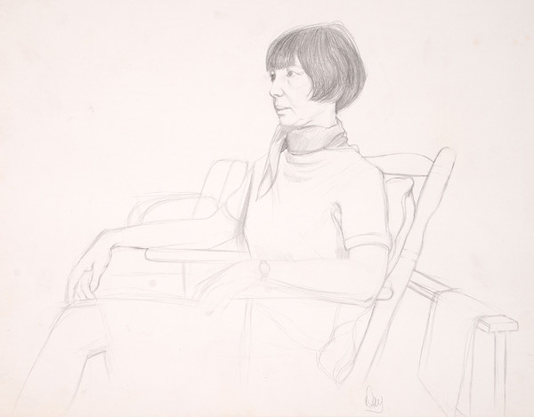 Larry Day: Untitled (Gladys Myers) (1960s) Graphite on paper