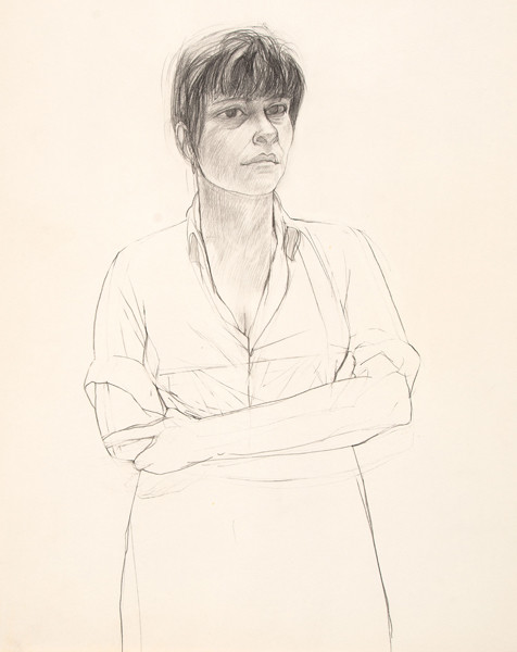 Larry Day: Untitled (Natalie Charkow) (1960s) Graphite on paper