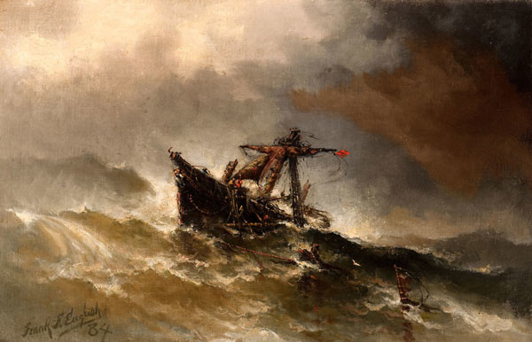 Frank F. English: Storm Driven (1884) Oil on canvas