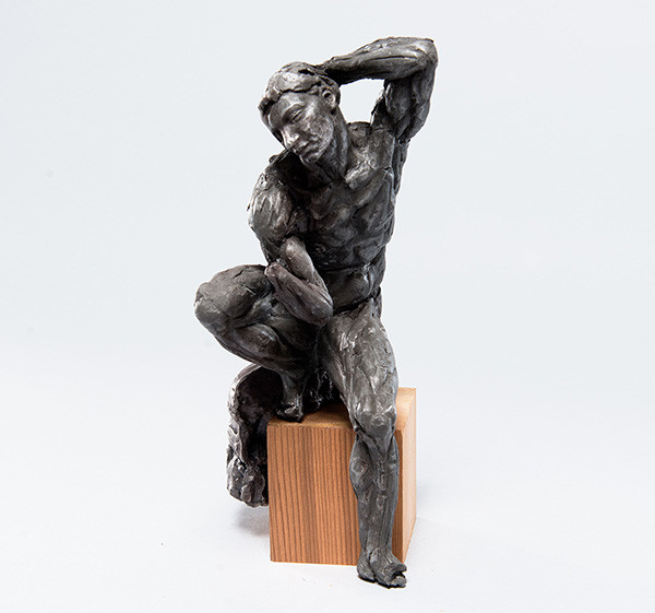 Walter Erlebacher: Ignudo 2 from Sistine Chapel (c. late 1960s) Aluminum filled urethane resin