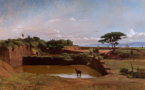 Randall L. Exon: Sanur, The Abandoned Quarry (1986) Oil on canvas