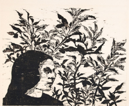 Woman with Plants