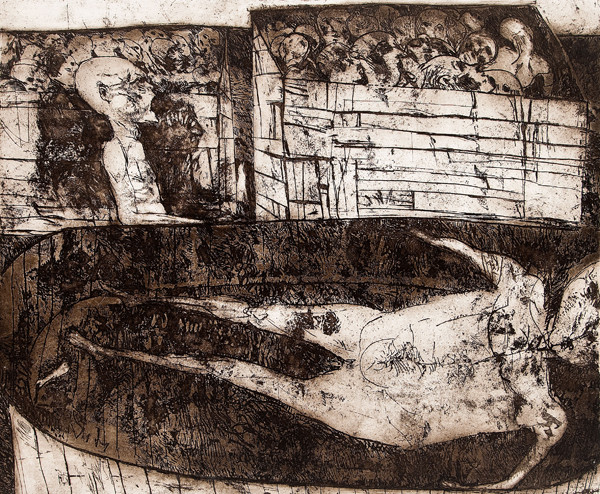 Sidney Goodman: Could This Have Been? (1958) Etching