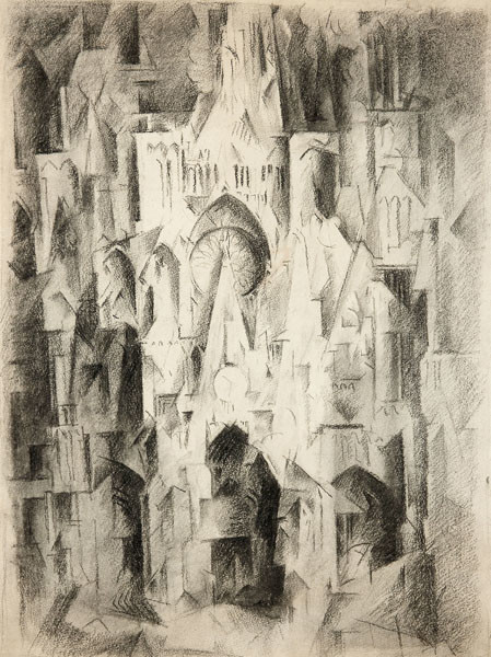 Earl Horter: Cathedral, Rouen, France (c. 1920) Charcoal on paper
