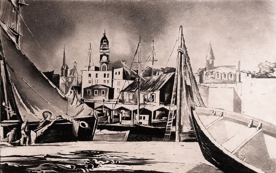 Earl Horter: Gloucester (Undated) Aquatint