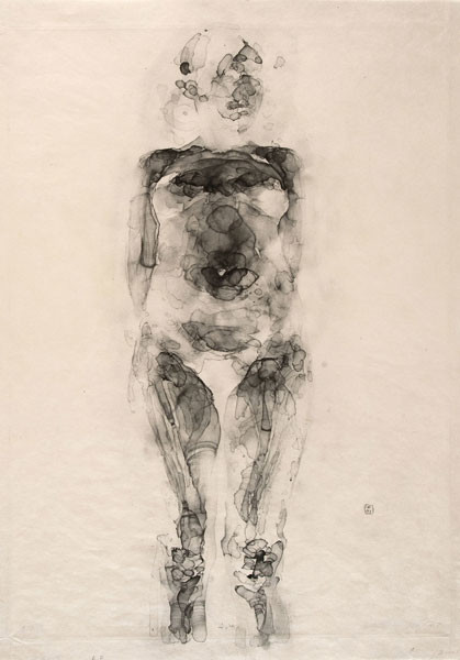 Alex Kanevsky: J.W. (X-Ray Series) (2007) aquatint etching on Japanese Gampi paper