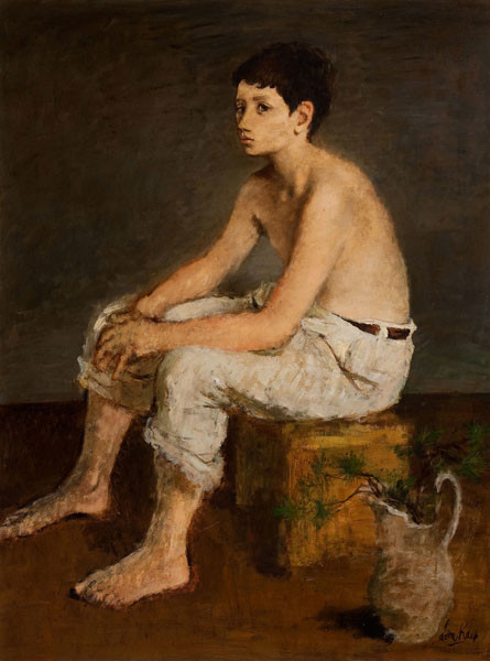 Leon Karp: Adolescence (1944) Oil on canvas