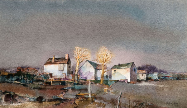 John Brock Lear, Jr.: Dusk (1980) Watercolor