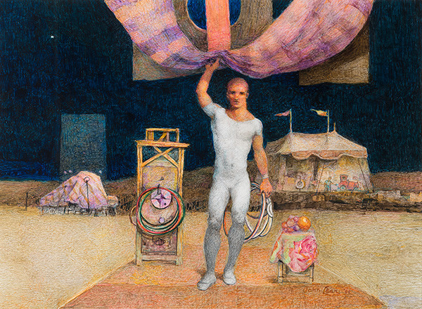 John Brock Lear, Jr.: Circus (2001) Mixed media on paper