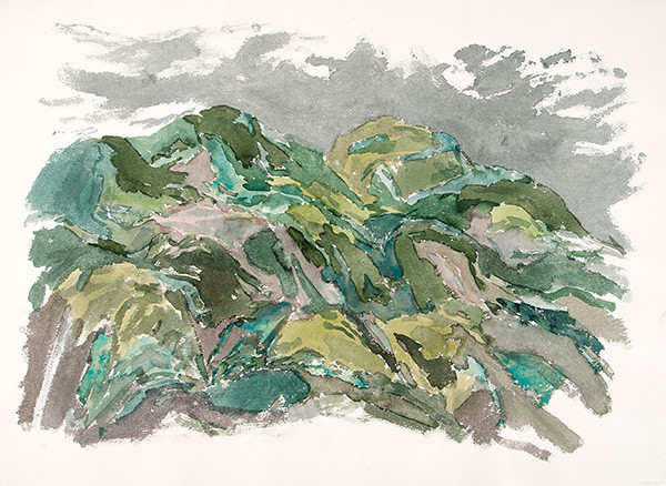 Leonard Lehrer: Untitled (Cuernavaca Landscape) (1965) Watercolor