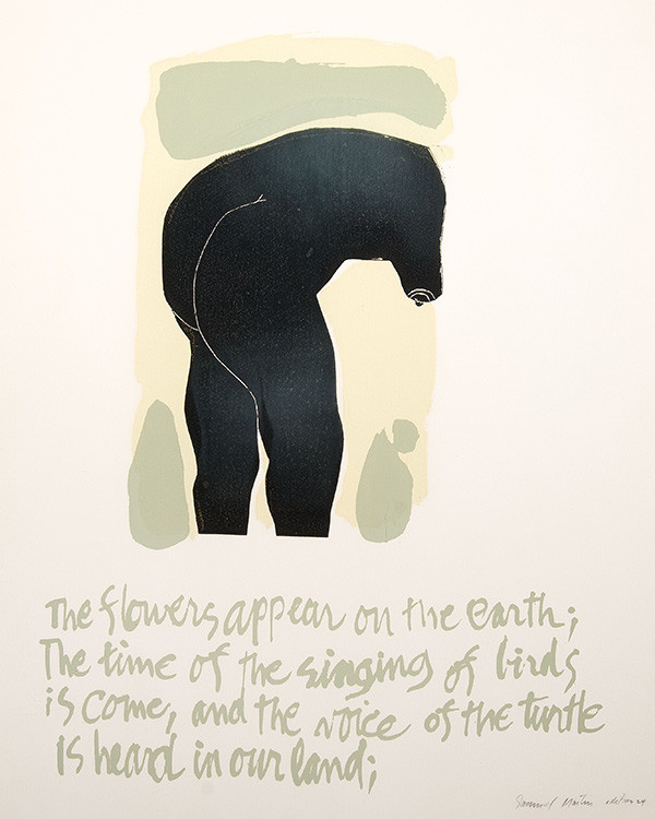 Sam Maitin: The Flowers Appear on the Earth (early 1970s) Serigraph