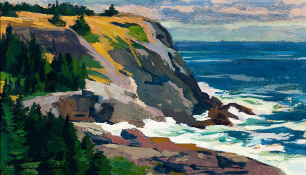 Antonio Pietro Martino: White Head-Monhegan Island, Maine (c. 1960) Oil on board