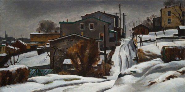 Antonio Pietro Martino: The Lane (1939) Oil on canvas